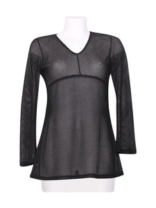Front photo of Preloved Jus d'Orange Black Woman's long sleeved shirt - size 12/L