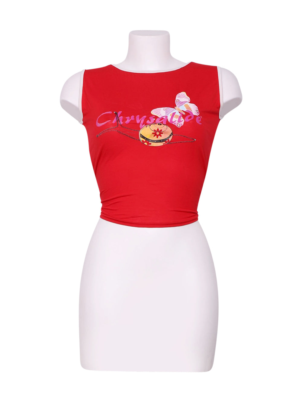 Front photo of Preloved Chrysalide Red Woman's t-shirt - size 8/S
