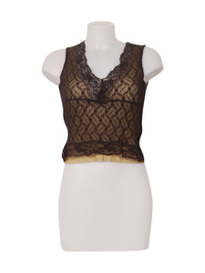 Front photo of Preloved Phard Brown Woman's sleeveless top - size 10/M