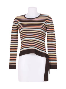 Front photo of Preloved kopertina Brown Woman's long sleeved shirt - size 8/S