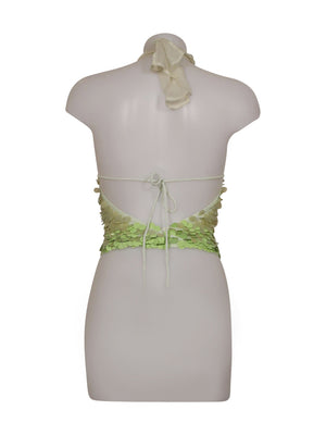 Back photo of Preloved Xetra Green Woman's sleeveless top - size 8/S