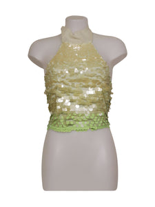 Front photo of Preloved Xetra Green Woman's sleeveless top - size 8/S