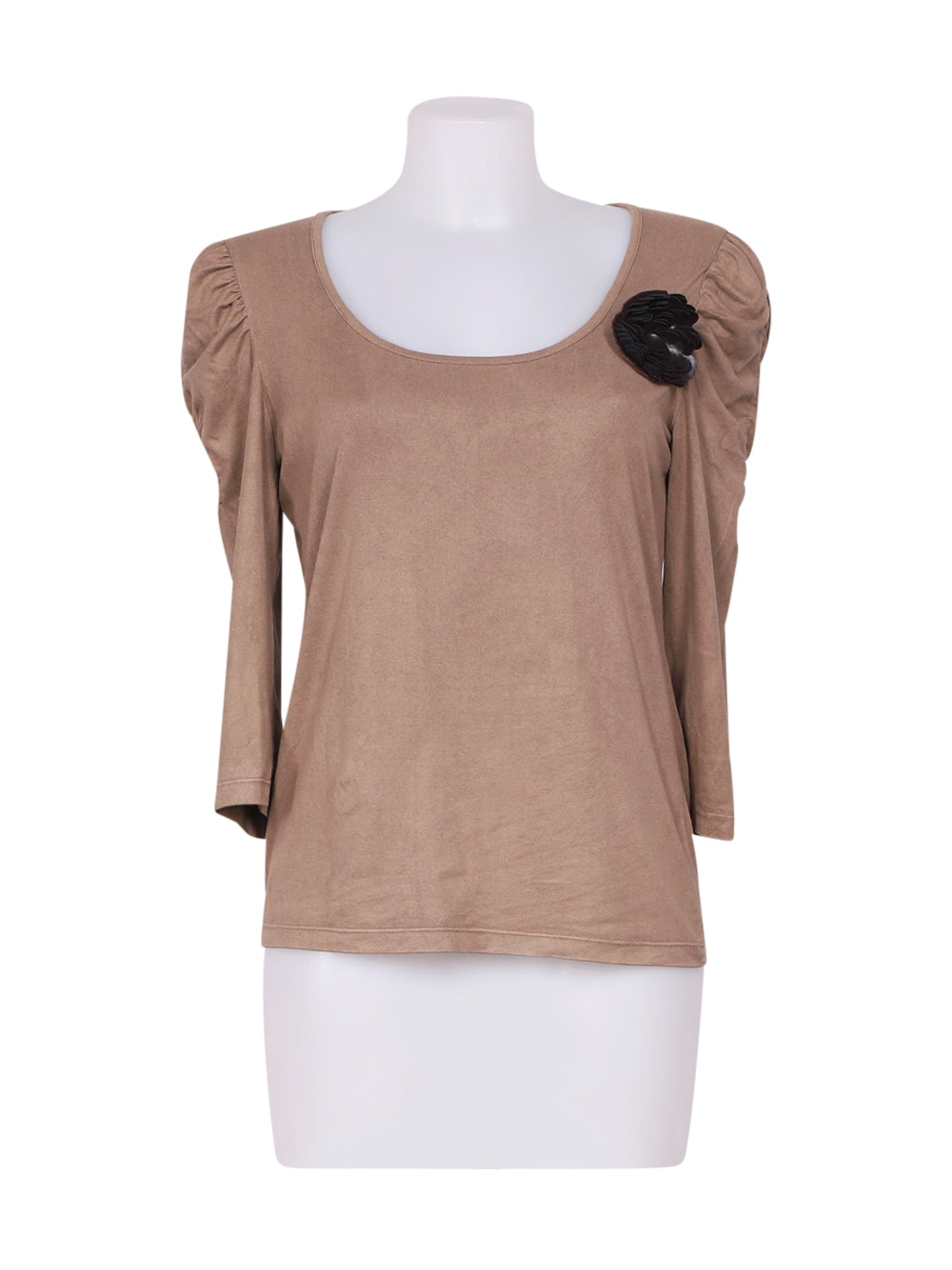 Front photo of Preloved Caroll Beige Woman's long sleeved shirt - size 10/M
