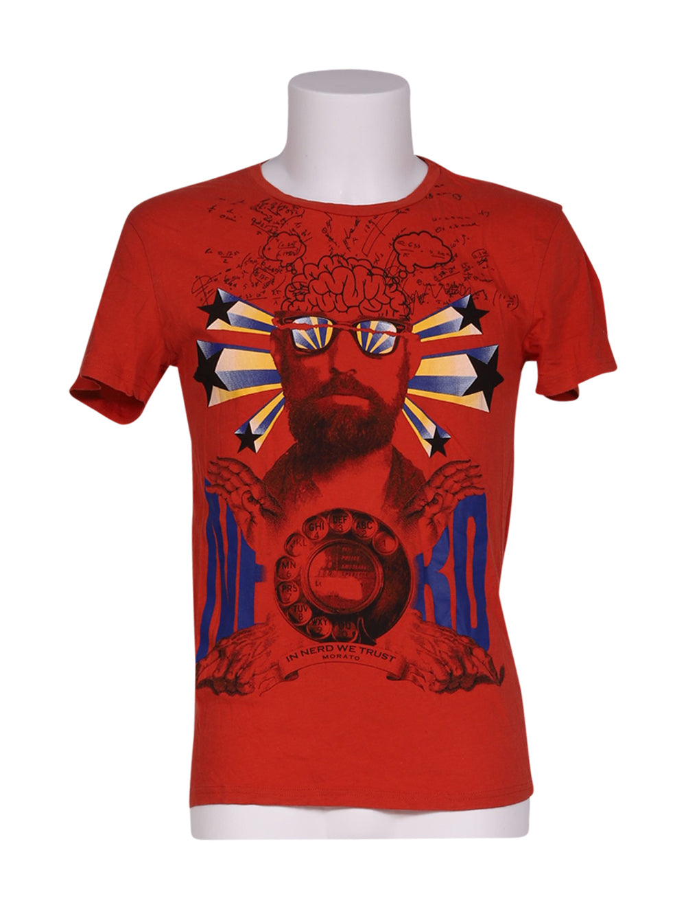 Front photo of Preloved Antony Morato Red Man's t-shirt - size 36/S
