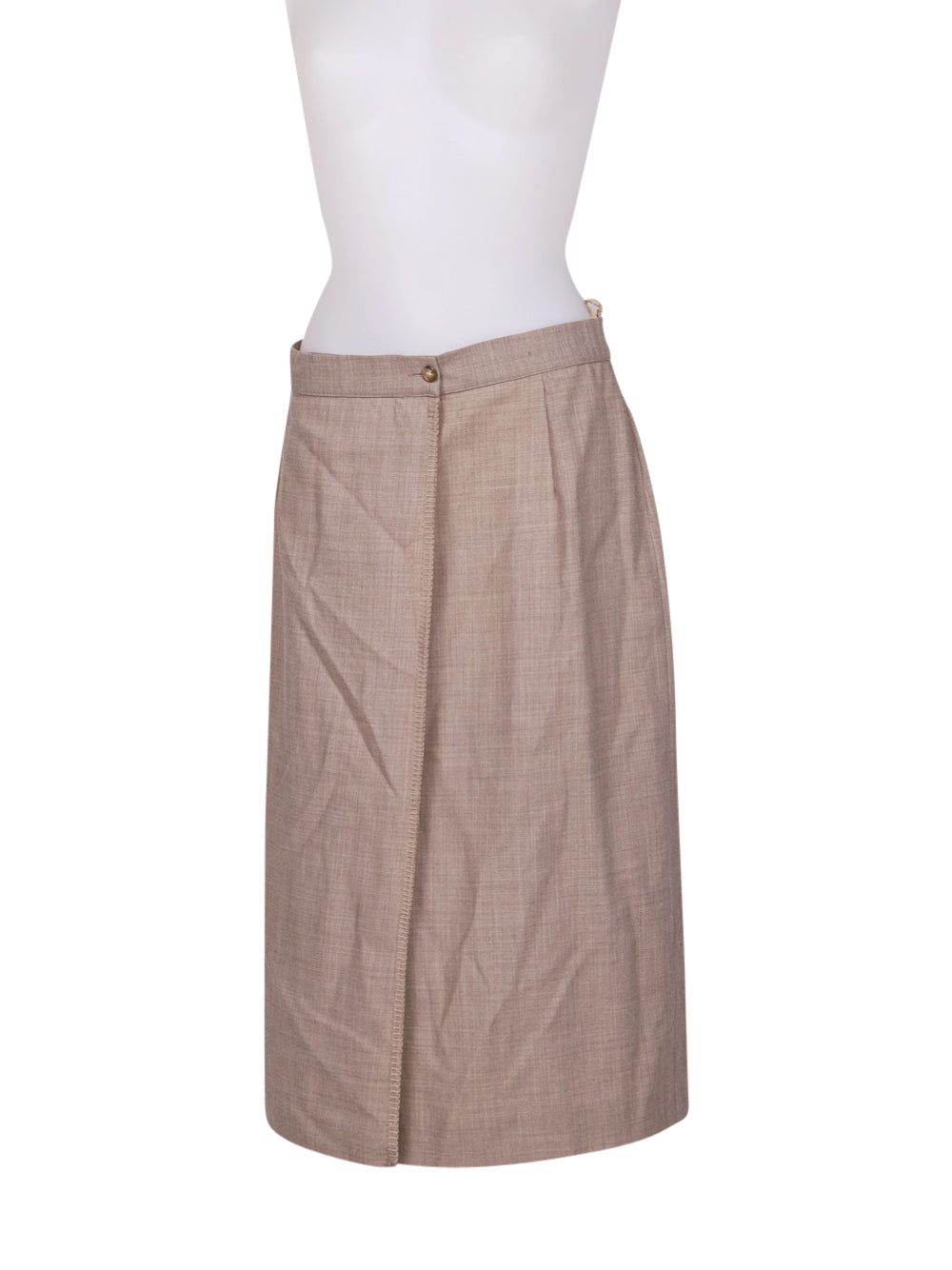 Front photo of Preloved scapa of scotland Beige Woman's skirt - size 8/S