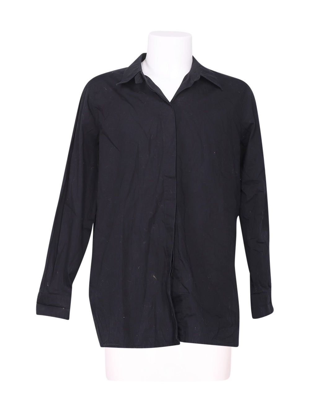 Front photo of Preloved Marina Rinaldi Black Man's shirt - size 40/L