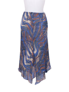 Front photo of Preloved Kor@Kor Blue Woman's skirt - size 8/S
