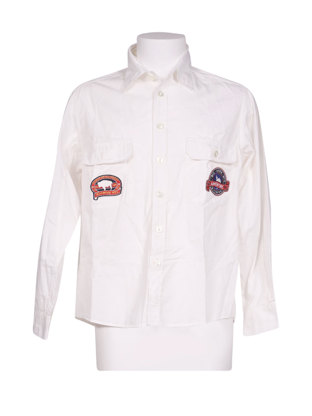 Front photo of Preloved Fila White Man's shirt - size 40/L