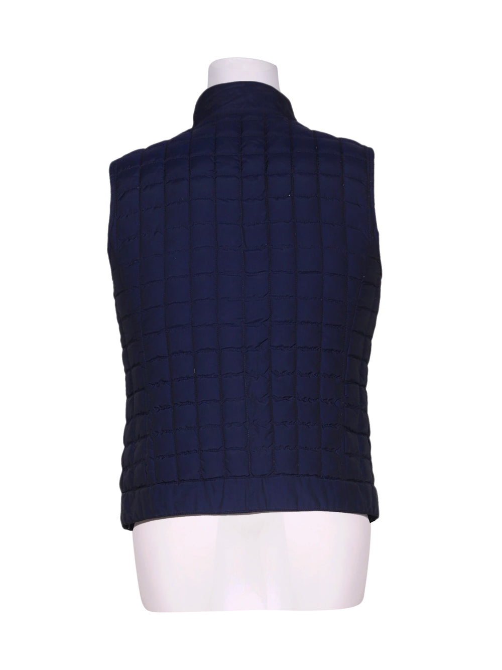 Back photo of Preloved Ciesse Blue Man's sleeveless winter coat - size 32/XXS