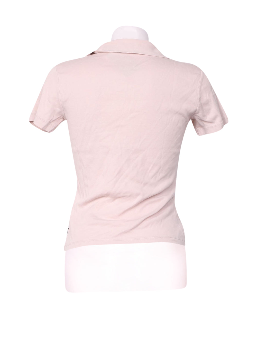 Back photo of Preloved Sisley Pink Woman's polo - size 8/S