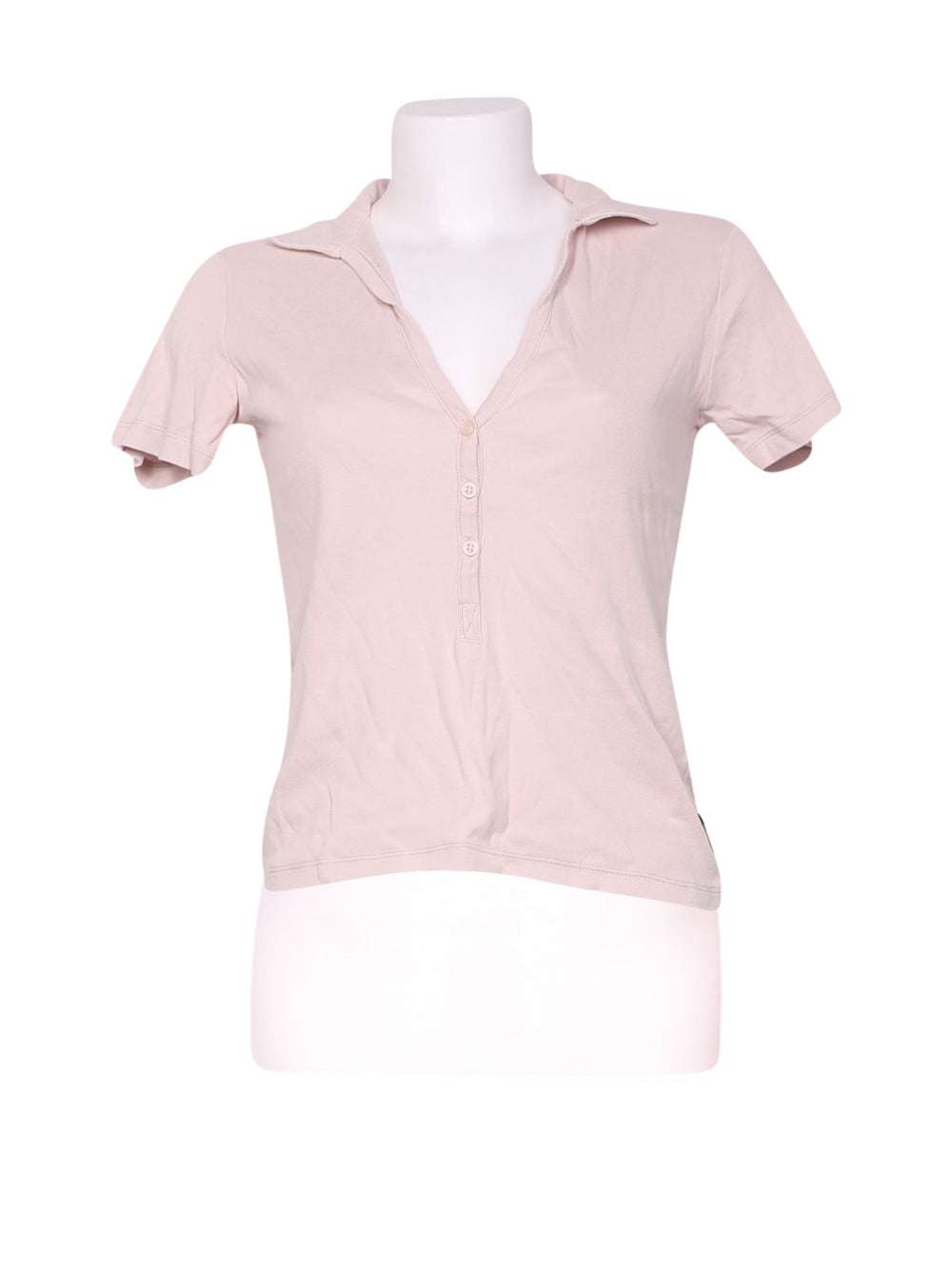 Front photo of Preloved Sisley Pink Woman's polo - size 8/S