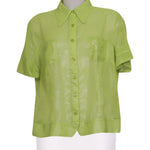 Front photo of Preloved Fiorella Rubino Green Woman's shirt - size 16/XXL