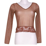 Front photo of Preloved Intimissimi Brown Woman's long sleeved shirt - size 8/S