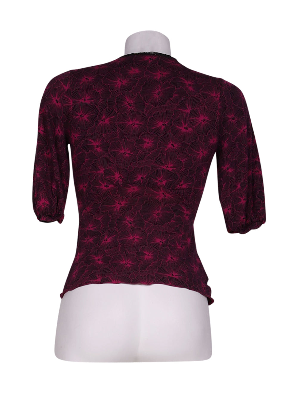 Back photo of Preloved ungaro fuchsia Violet Woman's long sleeved shirt - size 8/S
