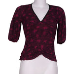 Front photo of Preloved ungaro fuchsia Violet Woman's long sleeved shirt - size 8/S