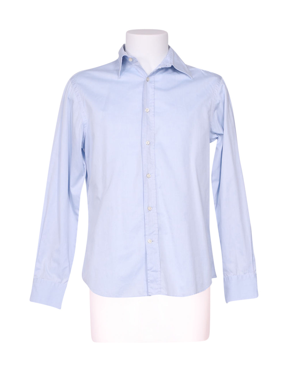 Front photo of Preloved Mauro Grifoni Light-blue Man's shirt - size 34/XS