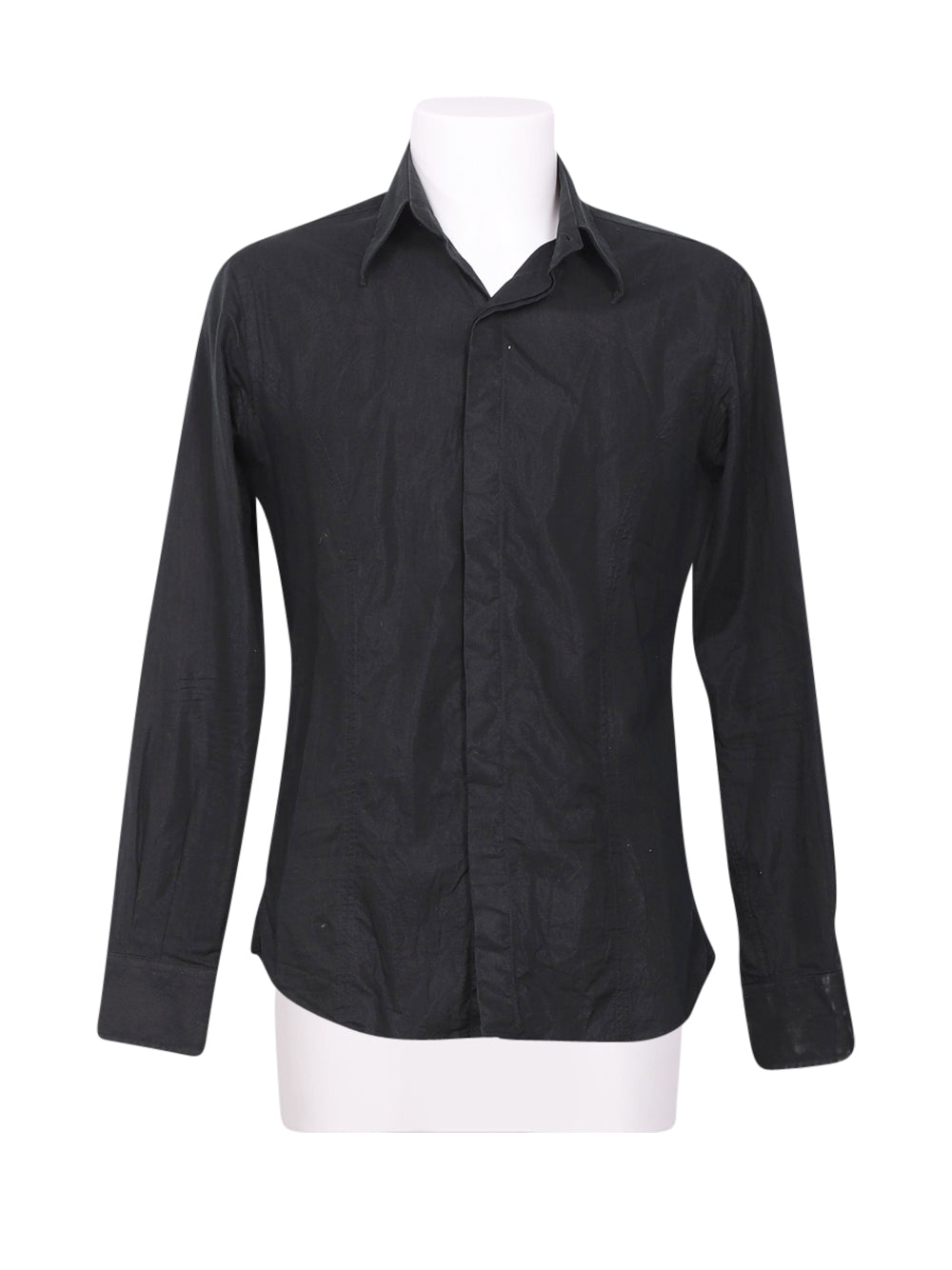 Front photo of Preloved Massimo Rebecchi Black Man's shirt - size 32/XXS