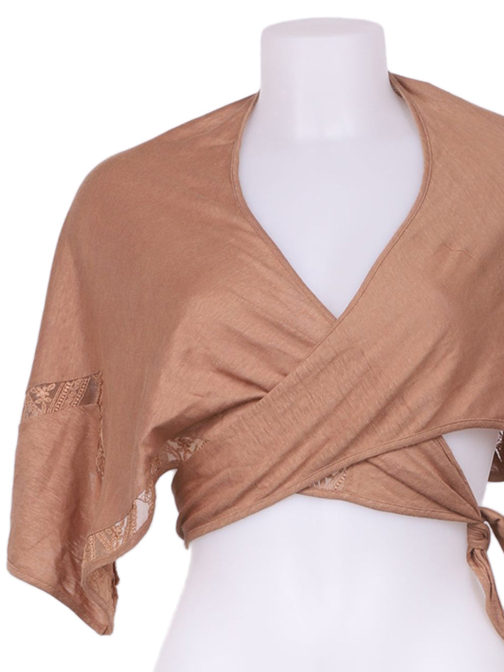 Detail photo of Preloved La Perla Brown Woman's bolero - size 12/L