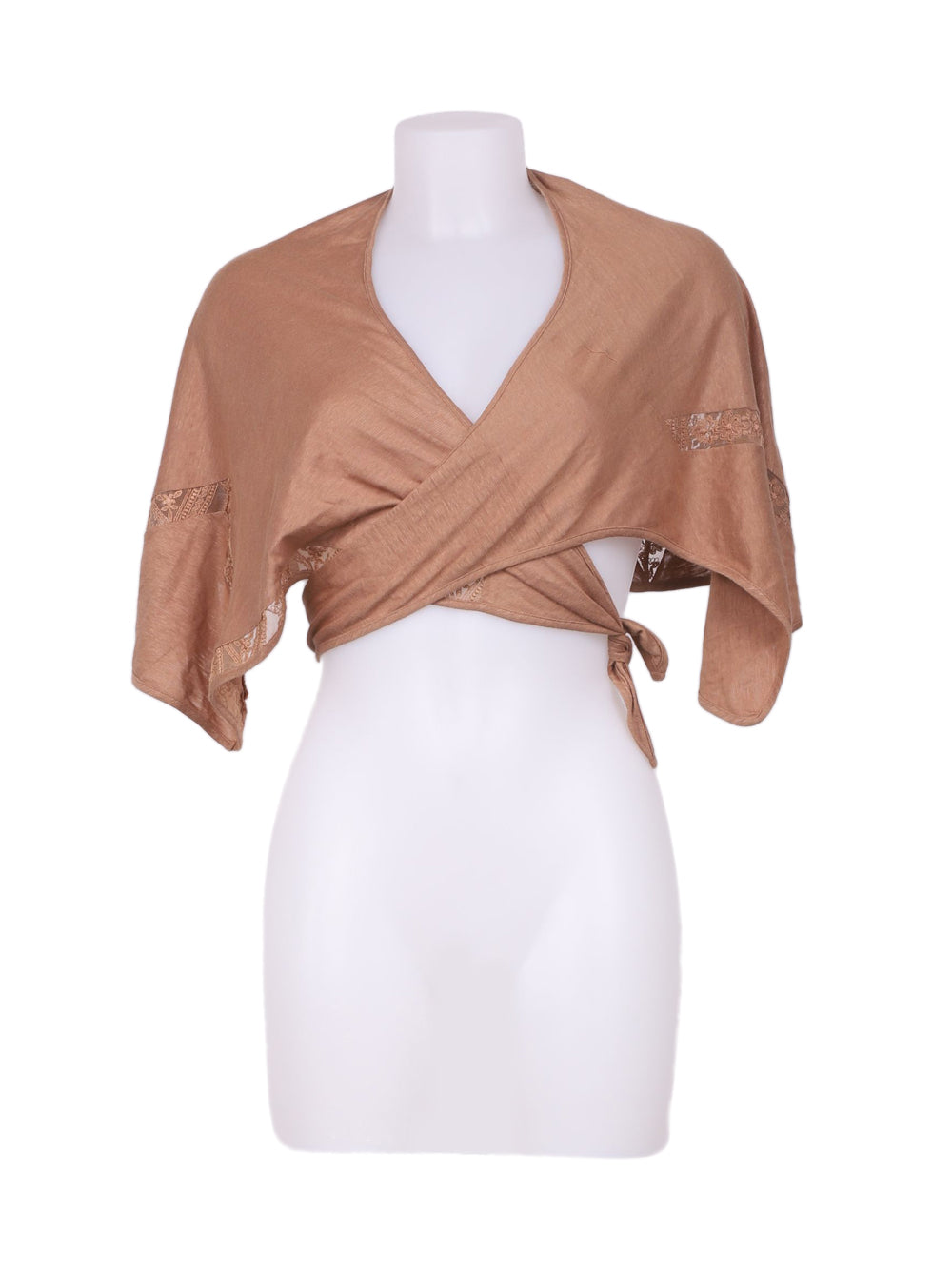 Front photo of Preloved La Perla Brown Woman's bolero - size 12/L