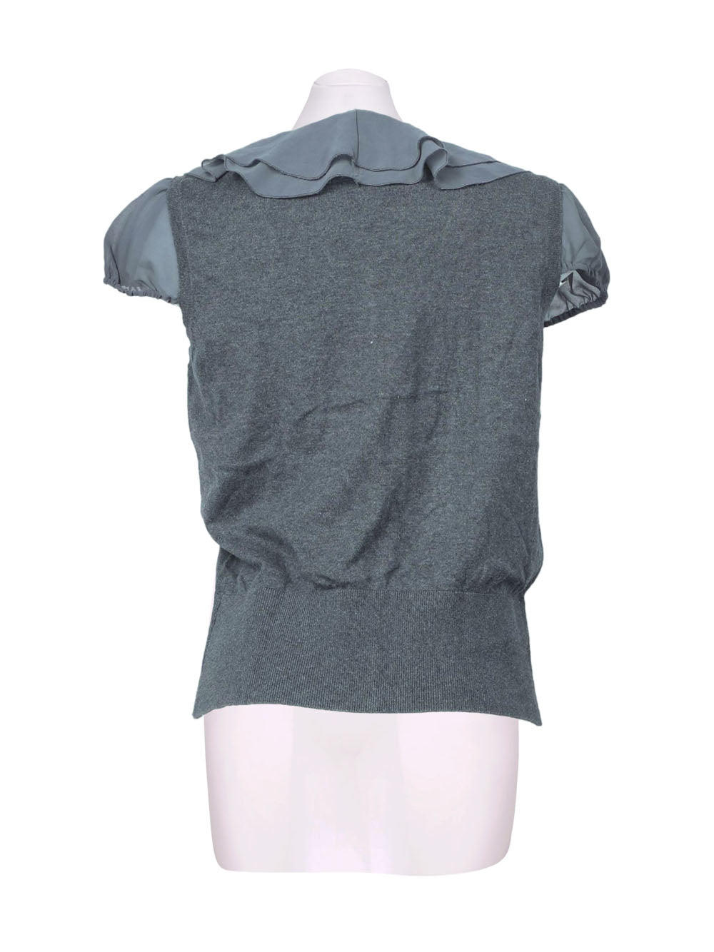 Back photo of Preloved lwie Grey Woman's shirt - size 10/M