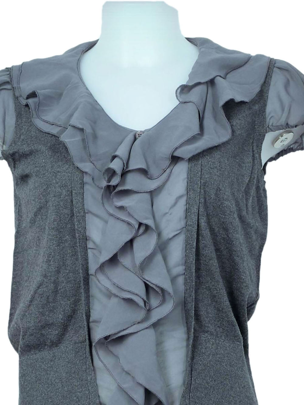 Detail photo of Preloved lwie Grey Woman's shirt - size 10/M