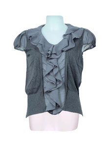 Front photo of Preloved lwie Grey Woman's shirt - size 10/M