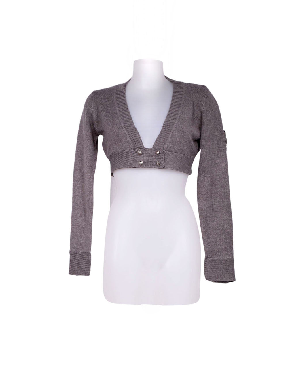 Front photo of Preloved Silvian Heach Grey Woman's bolero - size 8/S