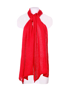 Front photo of Preloved ANKE STAUBACH Red Woman's scarf - size one-size