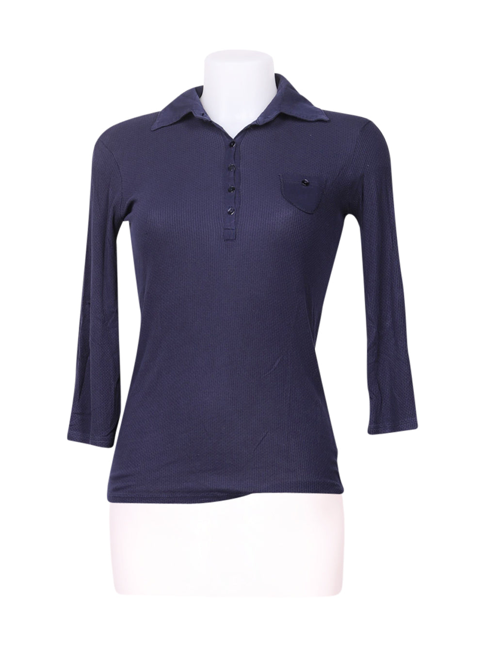 Front photo of Preloved Intimissimi Blue Woman's polo - size 10/M