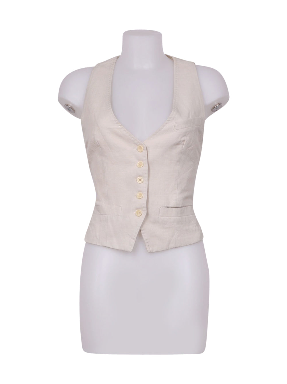 Front photo of Preloved cantiere donna jcm jey cole man Beige Woman's sleeveless jacket - size 10/M