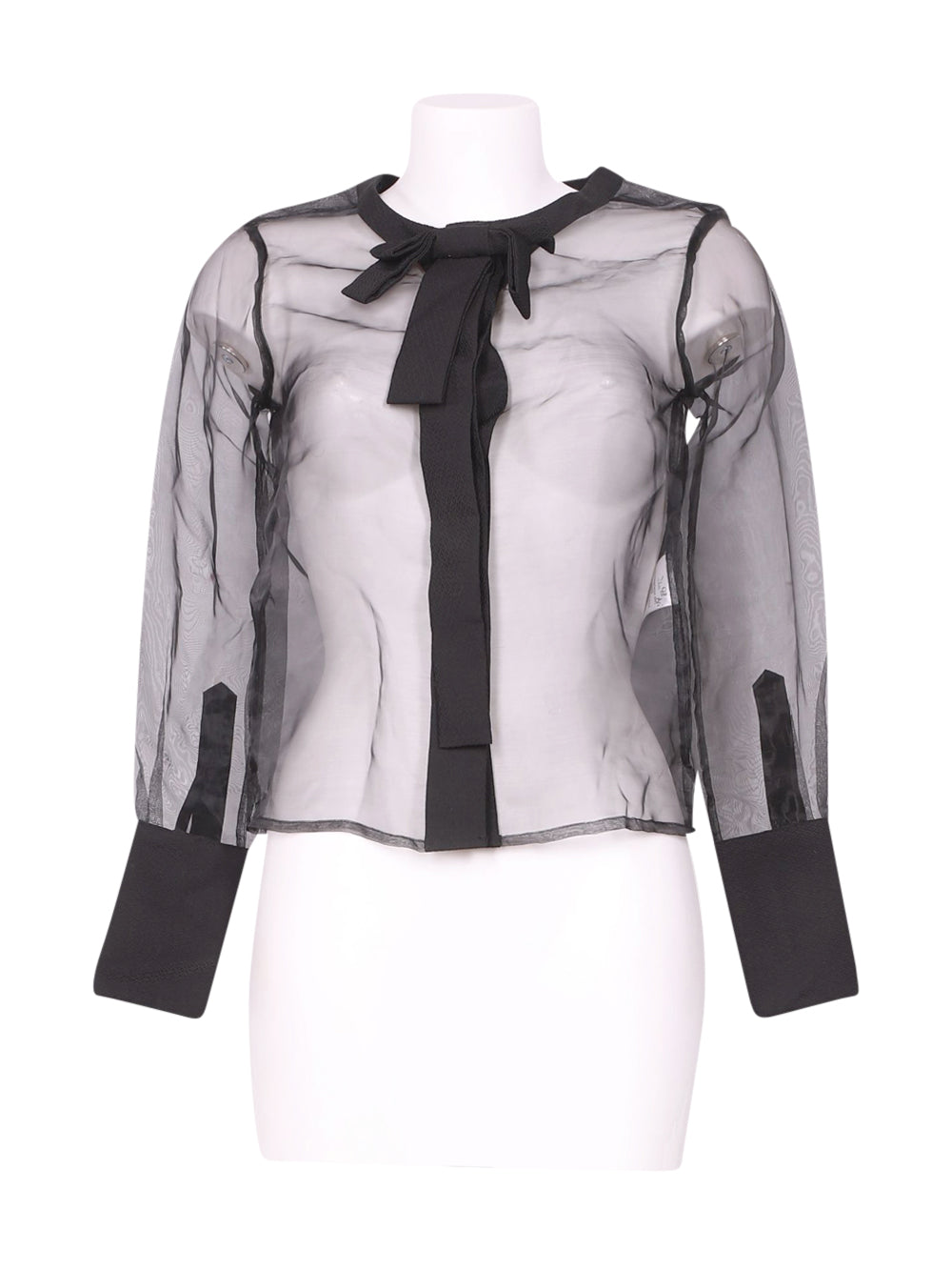 Front photo of Preloved Silvian Heach Black Woman's shirt - size 4/XXS