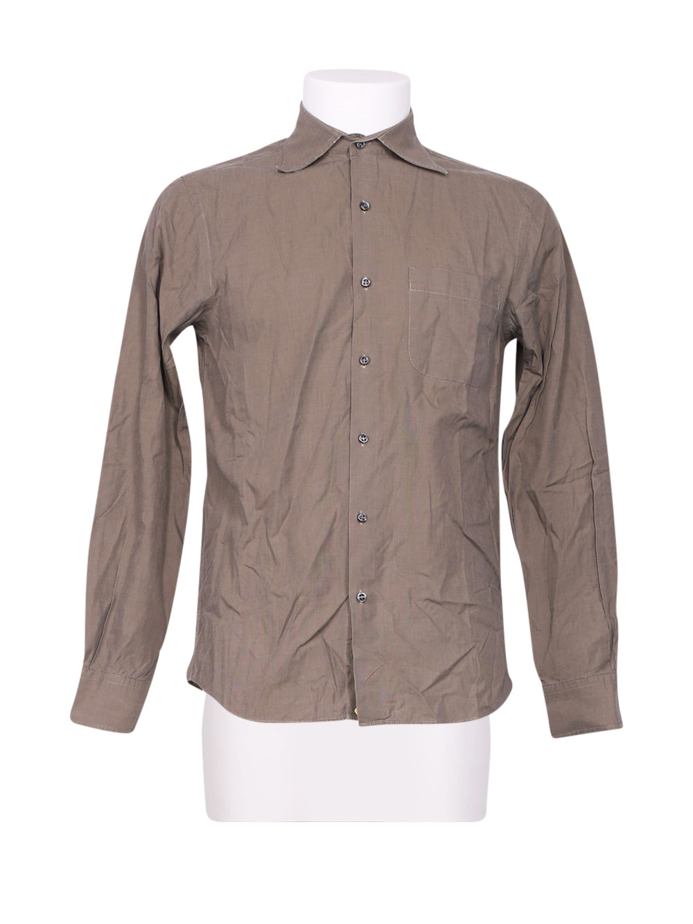 Front photo of Preloved Stefanel Grey Man's shirt - size 38/M