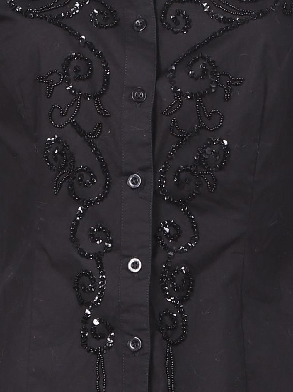 Detail photo of Preloved Bloom Black Woman's shirt - size 10/M