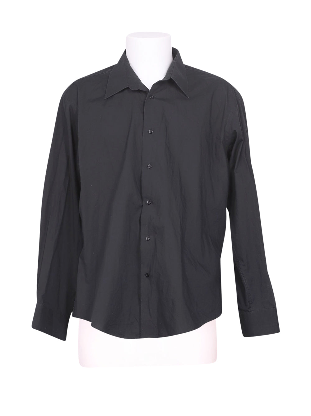 Front photo of Preloved delaveine collection Black Man's shirt - size 40/L