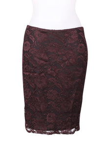 Front photo of Preloved Sisley Bordeaux Woman's skirt - size 10/M