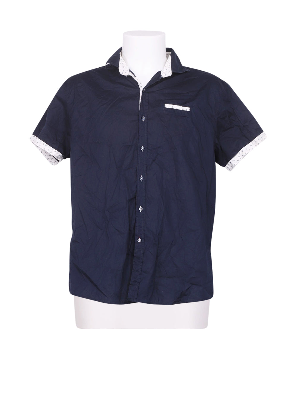 Front photo of Preloved KANTAROS Blue Man's shirt - size 36/S