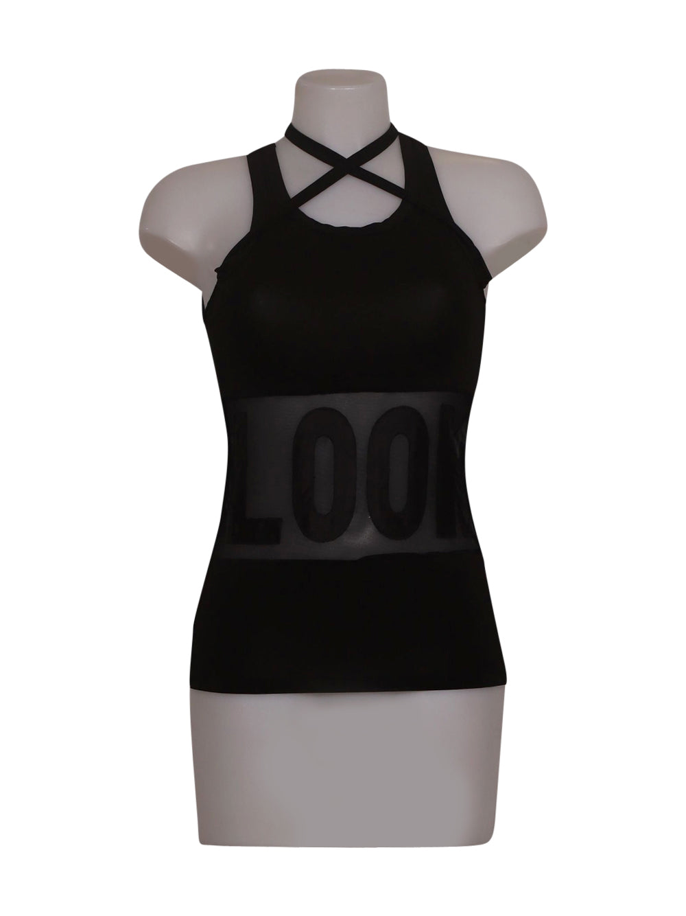 Front photo of Preloved Cristinaeffe Black Woman's sleeveless top - size 10/M