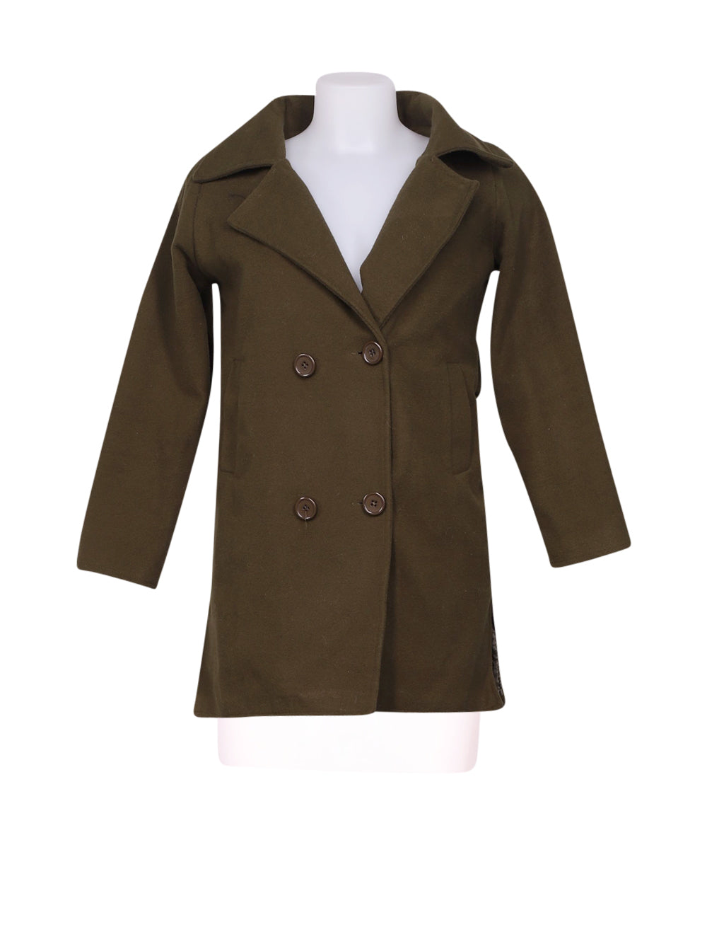 Front photo of Preloved witchery Green Woman's coat - size 10/M