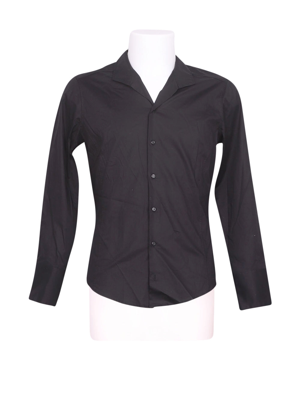 Front photo of Preloved EEE NARA CAMICEE Black Man's shirt - size 34/XS
