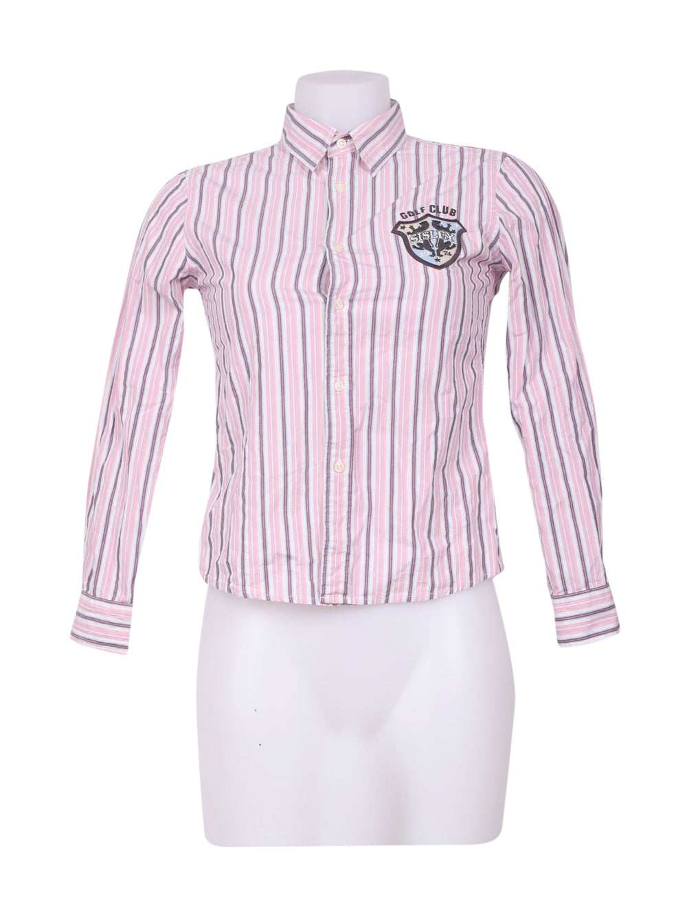 Front photo of Preloved Sisley Pink Woman's shirt - size 8/S