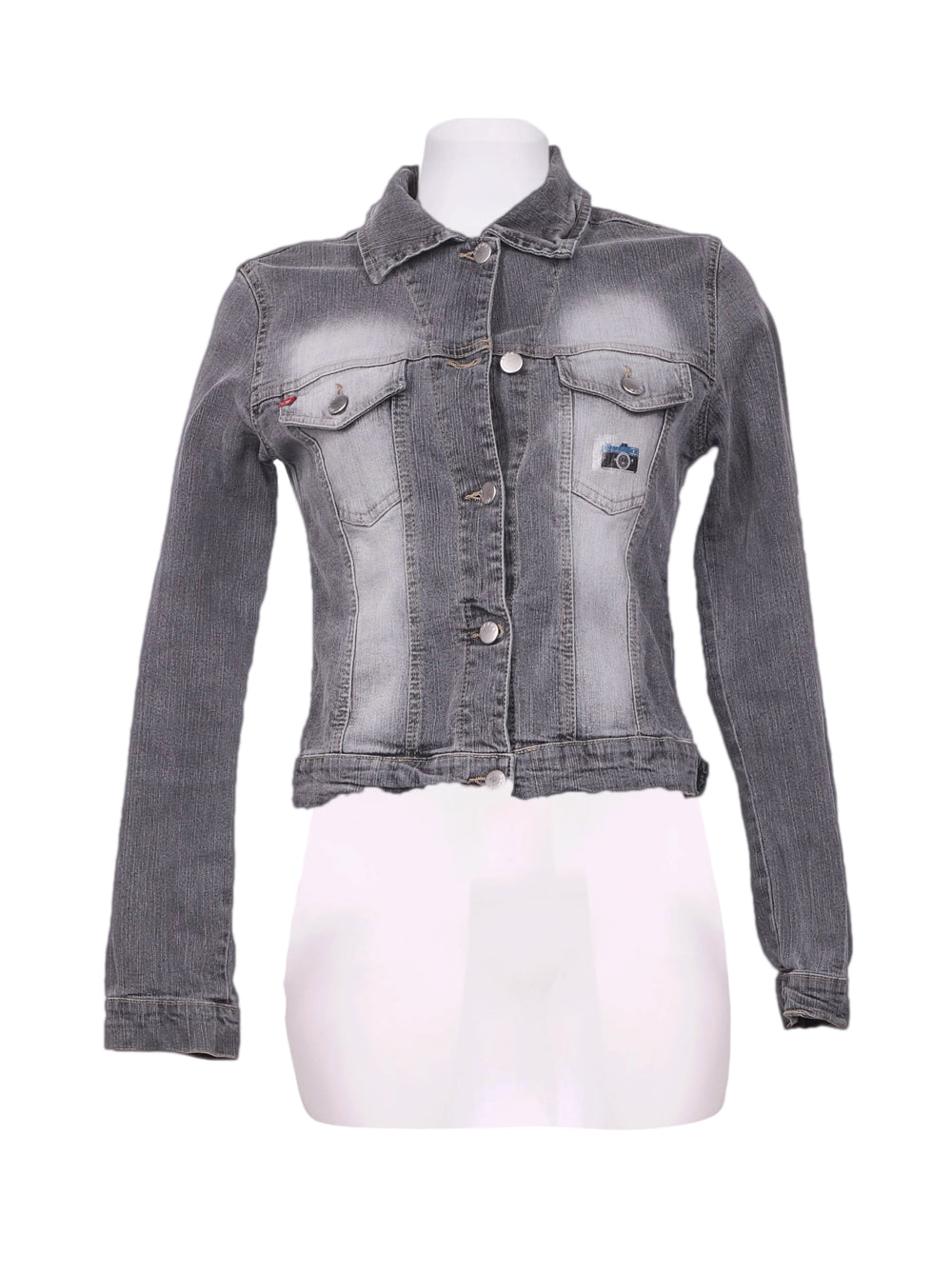 Front photo of Preloved nexos jeans Grey Woman's jacket - size 12/L