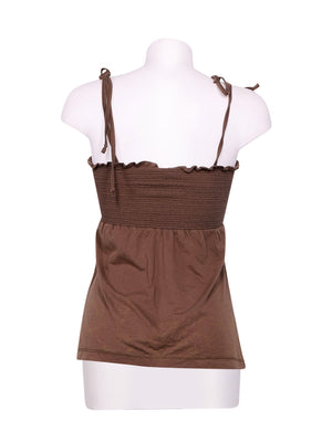 Back photo of Preloved Roxy Brown Woman's sleeveless top - size 12/L