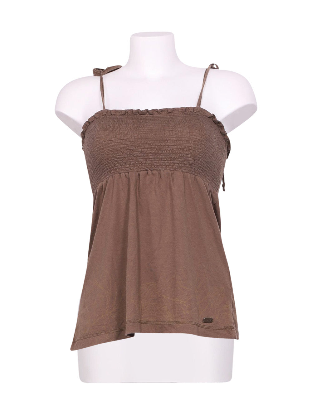 Front photo of Preloved Roxy Brown Woman's sleeveless top - size 12/L