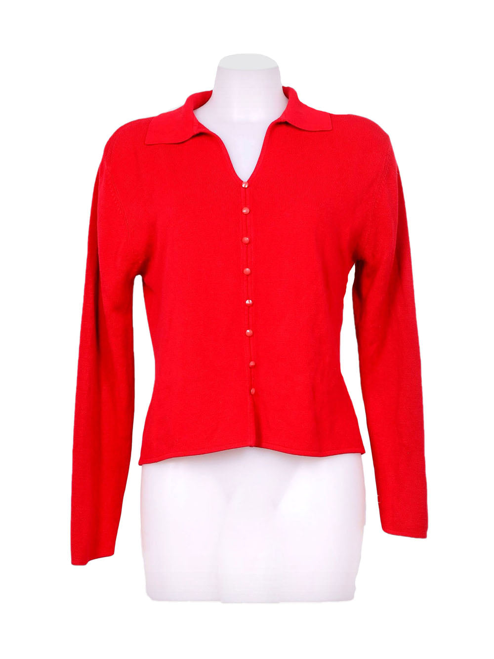Front photo of Preloved Kathie Lee Red Woman's bolero - size 10/M