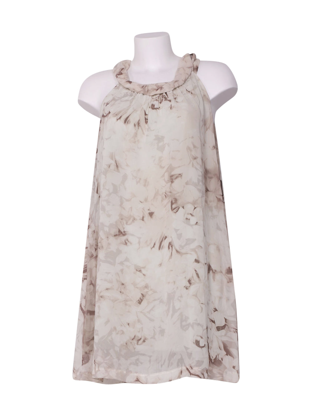 Front photo of Preloved Sisley Beige Woman's dress - size 10/M