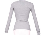 Back photo of Preloved Oysho Grey Woman's long sleeved shirt - size 8/S