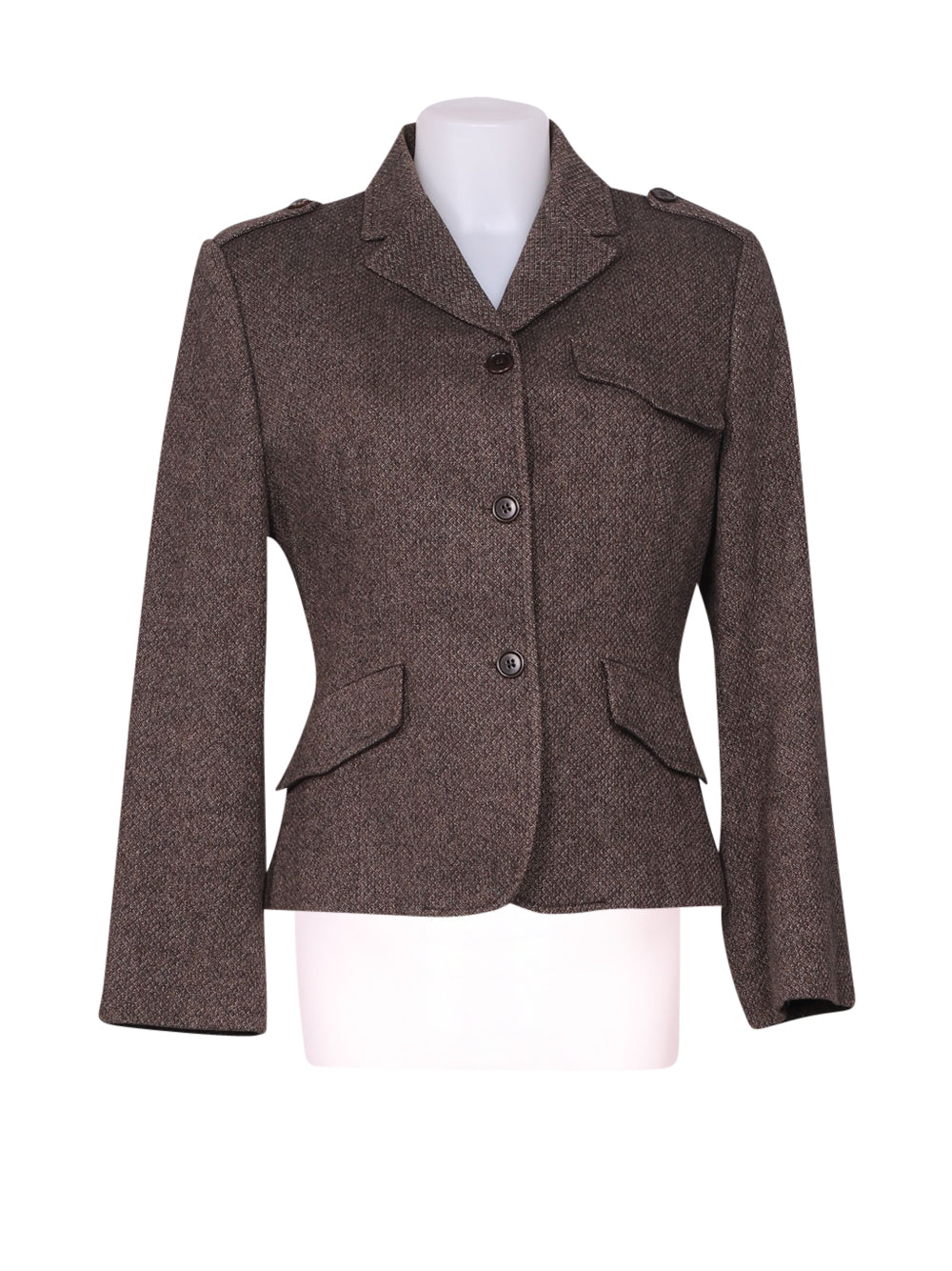 Front photo of Preloved Benetton Brown Woman's blazer - size 10/M