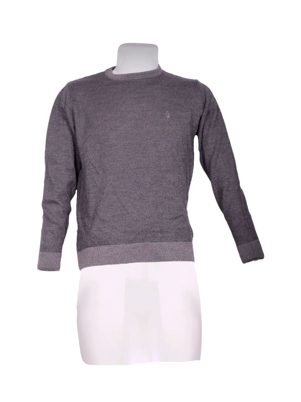 Front photo of Preloved Navy Sail Grey Man's sweater - size 38/M