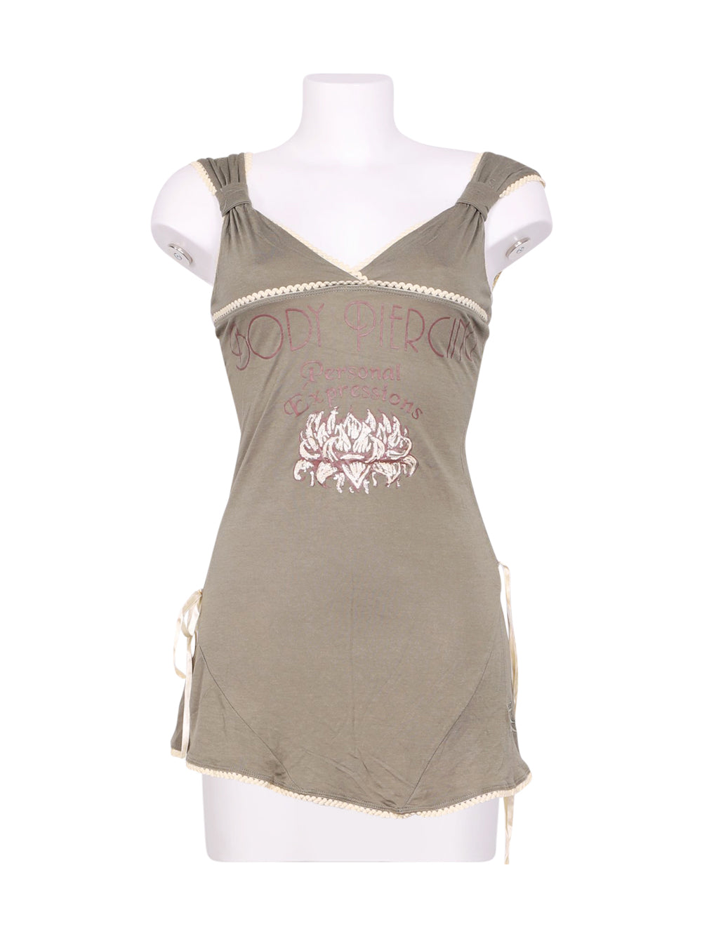 Front photo of Preloved Artigli Green Woman's sleeveless top - size 8/S