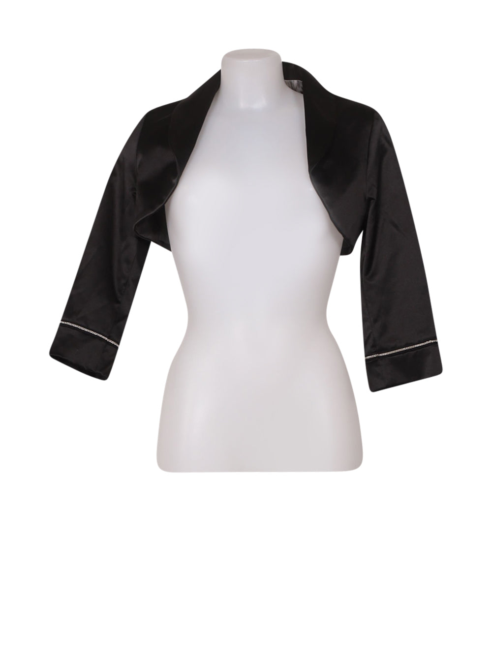 Front photo of Preloved Artigli Black Woman's bolero - size 14/XL